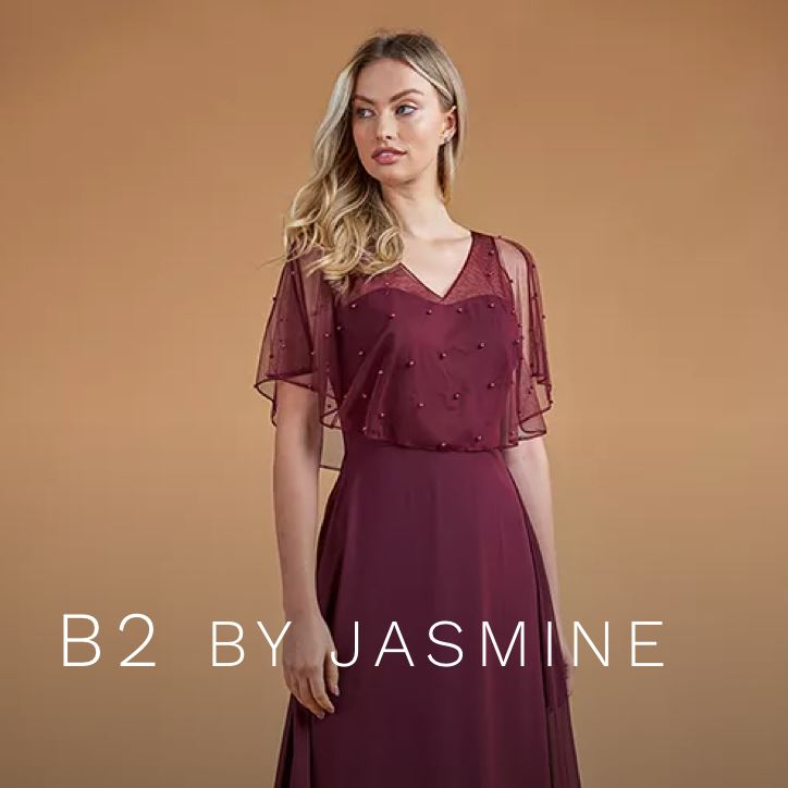 Bridesmaid Wearing B2 by Jasmine Bridesmaids Dress.